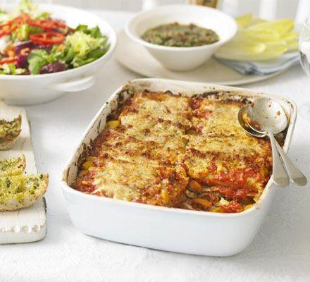 Cannelloni with squash tomato rosemary - recipe