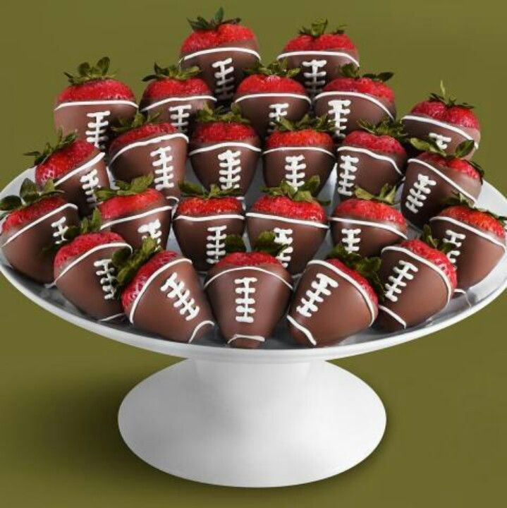 Superbowl deliciousness - What a great idea, and so generally healthy (ignore the chocolate.)