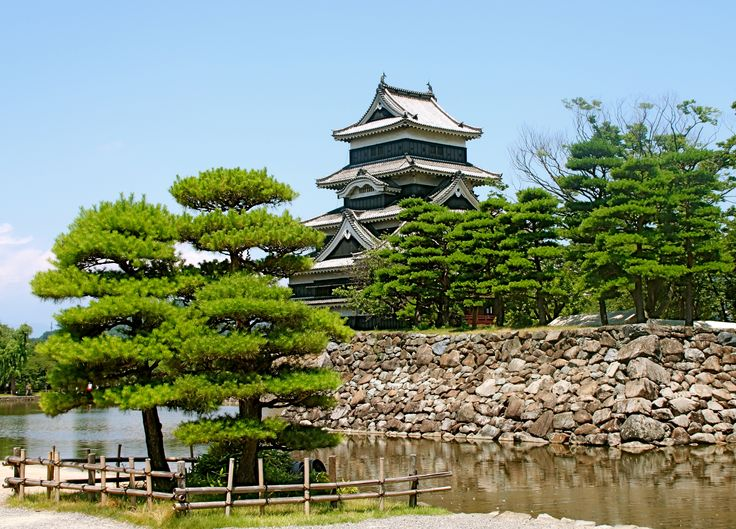 "Matsumoto Castle,This castle was built about 400 years ago and is also known as ""the castle-crow""  , Nagano"