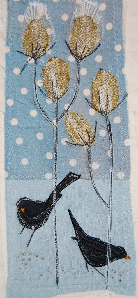 Blackbirds and teasels