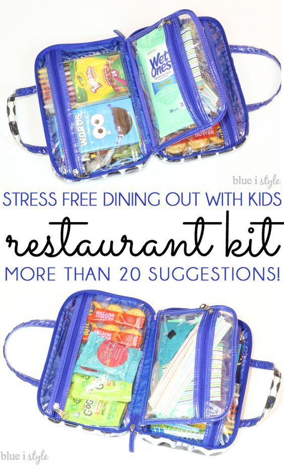 NOW UPDATED! Make eating out less stressful and more fun for parents and kids alike by creating a restaurant kit! More than 20 suggestions for kids, as well as essentials for babies and toddlers!