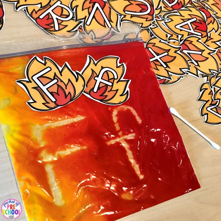 Fire letter, sight word, or name writing! Perfect for a community helper theme or fire safety theme in the fall with a preschool, pre-k, or kindergarten class.