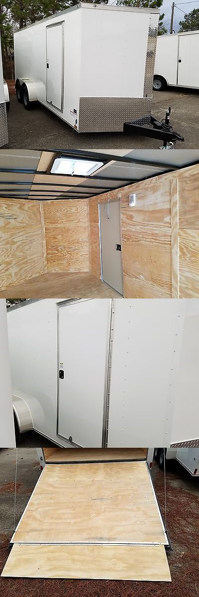 heavy equipment: 7X16 Vnose Enclosed Cargo Trailer Premimum Quaility BUY IT NOW ONLY: $3125.0