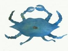 "Iron Fish Art // Metal Blue Crab Art - ""Uncooked"" Crab Art - Handcrafted Iron Crab Sculpture"