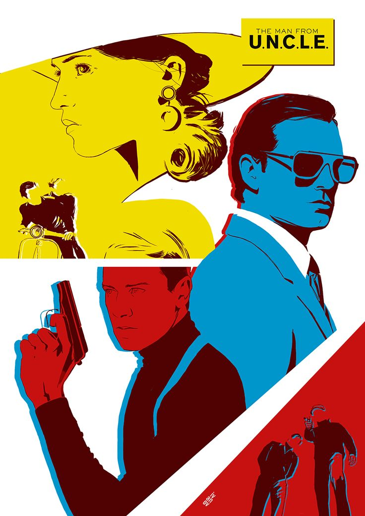 The Man from U.N.C.L.E. Stylish movie with great soundtrack. I tried to catch the vibe on this poster. -Dima
