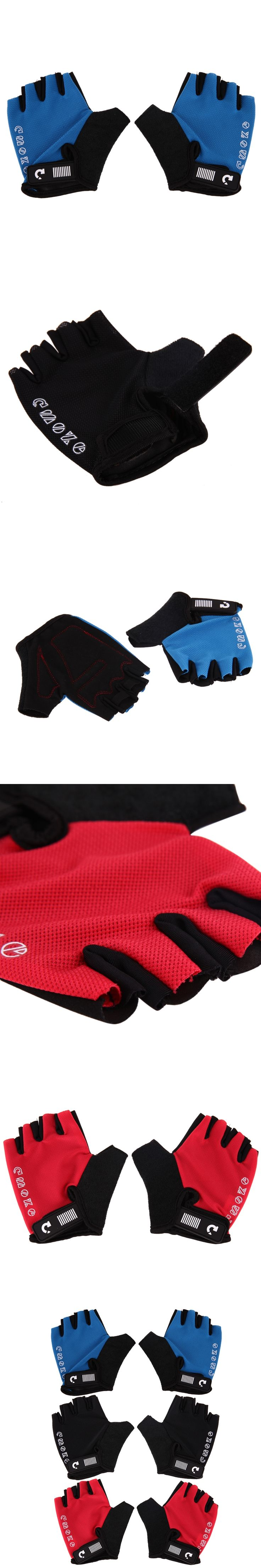 Breathing Anti Skid Cycling Glove Padded Half Finger Glove MTB Mountain Bicycle Gloves Men Sports Cycling Equipment