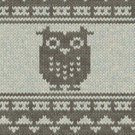 セーターの編み図の参考に☆彡アニマル柄・フクロウ