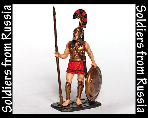 Tin Soldier Spartan Hoplite 4th Century BC Hand by RussianSoldiers