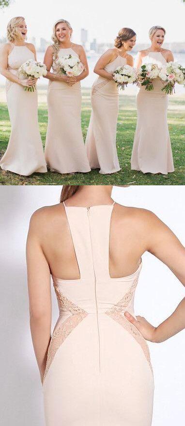 2017 bridesmaid dress,mermaid long bridesmaid dress, pink bridesmaid dress,peach bridesmaid dress #wedding #dress