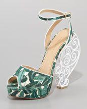 Charlotte Olympia Wire-Heel Platform Sandal: Fashion Shoes, Charlotte Olympia, Wireheel Platform, Olympia Wireheel, Olympia Wire Heels, Wire Heels Platform, Gardens Parties, Platform Sandals, Olympia Sandals