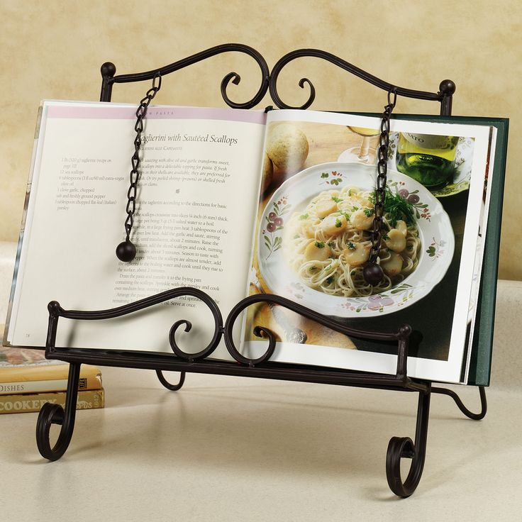 Best 25 cookbook holder ideas on pinterest magnetic knife holder recipe and cookbook stands - Cream recipe book stand ...