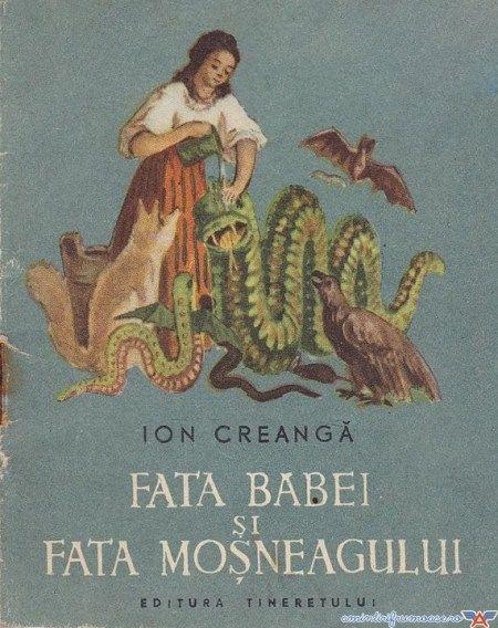 FATA BABEI SI FATA MOSNEAGULUI - ION CREANGA (ilustrata de V. Apostoloiu, 1956