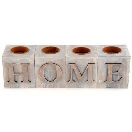 woodland collection home tealight holder blocks dunelm. Black Bedroom Furniture Sets. Home Design Ideas