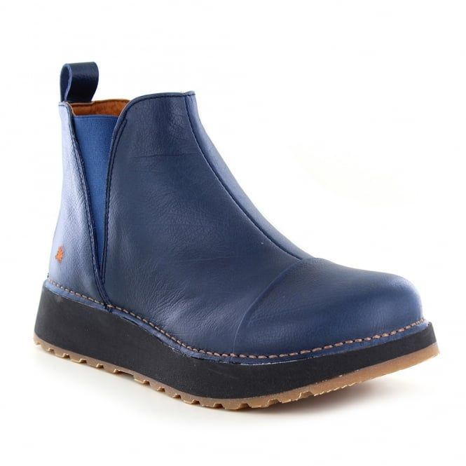 Art Memphis 1023 Womens Leather Chelsea Boots - Blue