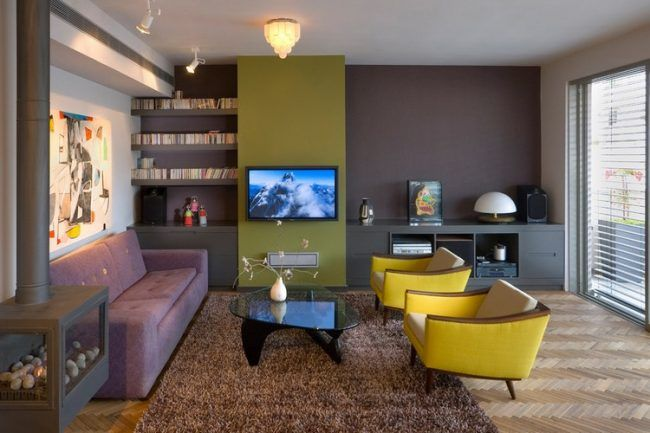Die besten 25+ braun Akzent Wand Ideen auf Pinterest - wohnzimmer ideen braun grun