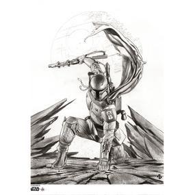 [Star Wars: Giclee Print: Boba Fett B&W Edition (Adi Granov Signed Limited Edition) (Product Image)]