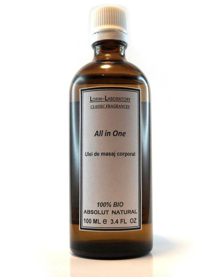 Produse cosmetice personalizate mai multe detalii pe www.lorinlab.com ulei corporal unisex Ulei corporal All in One