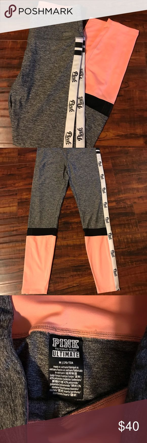 Vs pink ultimate leggings These are in excellent shape. I've only worn them a …