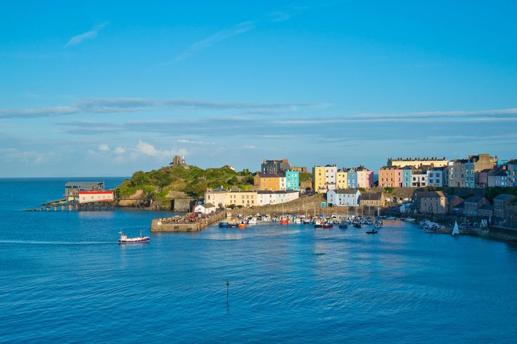 The charming seaside town of Tenby in south Wales: