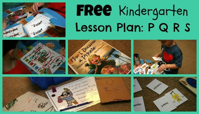 Free Kindergarten Lesson Plan for P Q R S with additional free printables