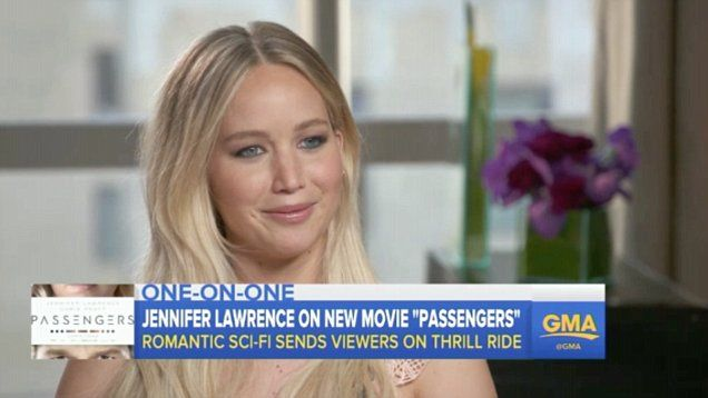 Jennifer Lawrence opens up on whether she'd choose love over her work on Good Morning America. Jennifer sat with host Michael Strahan and also opened up on the recent election.