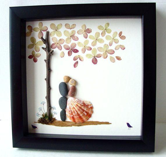 Unieke huwelijksgeschenk, Wedding Gift Pebble kunst, unieke overeenkomstengift, unieke huwelijksgeschenk, PAAR gepersonaliseerde Gift, bruid en bruidegom cadeau, huwelijkscadeau, echtpaar Gift, Love Gifts, Pebble kunst te vieren en koesteren de speciale gelegenheid; een uitzonderlijke gift die voor de komende jaren zal worden gekoesterd.  ✿ Originele Pebble kunst met een gevoel van romantiek, mysterie en magie. ✿ Komt in 8 x 8 inch zwarte schaduw doos stijl frame, ongeveer 1,5 Inch diep…