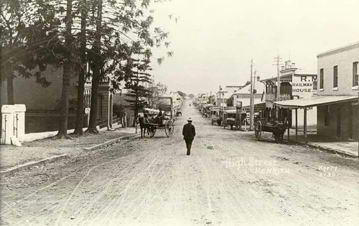 High St,Penrith in 1910. Penrith History.