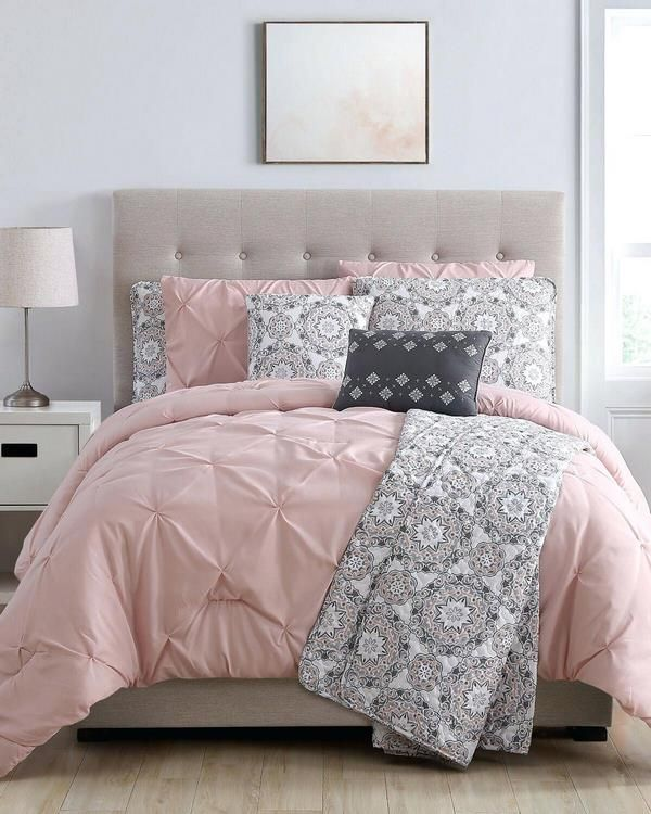 Pink And Grey Duvet Cover Comforter Set Bedroom Color Schemes And Decor Ideas Pink Gray Bed Pink And Grey Bedding Pink And Grey Room Bedroom Color Schemes