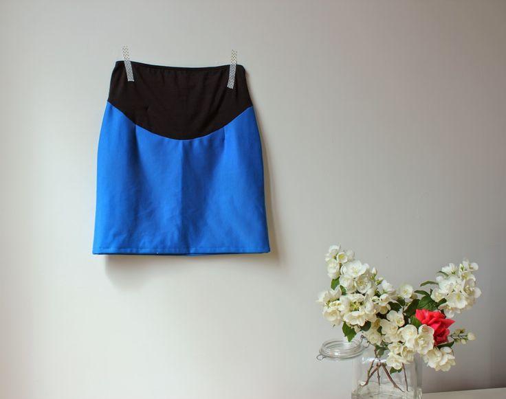Le petit monde de J.: Jupe de grossesse : le patron de la ceinture en jersey