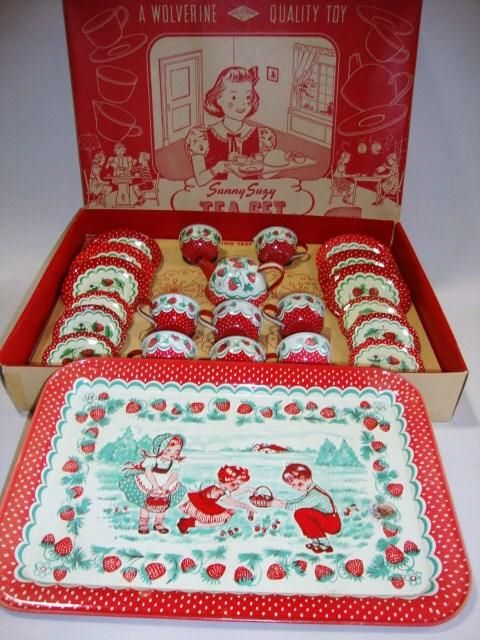 Children's Strawberry Tea Set