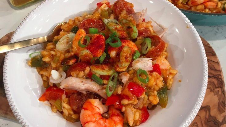 Chicken and prawn jambalaya