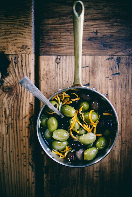 fatelondon.com love spicy orange + fennel marinated olives by Beth Kirby
