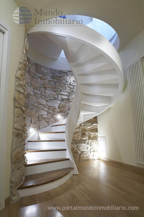 Escaleras para espacios peque os de cemento buscar con for Como hacer una escalera de concreto con descanso