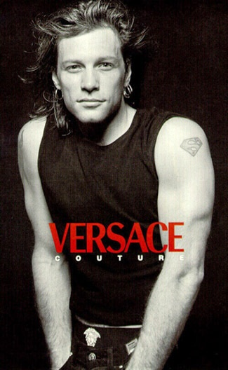 Jon Bon Jovi for Versace...