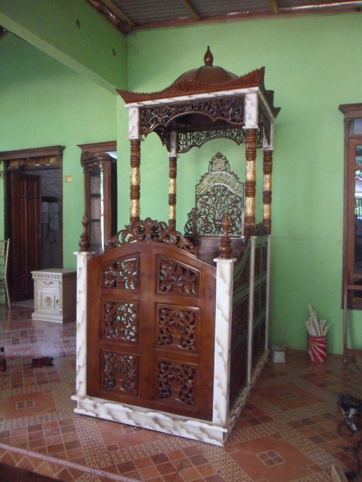 mimbar masjid, mimbar podium jepara, mimbar masjid ukiran jepara