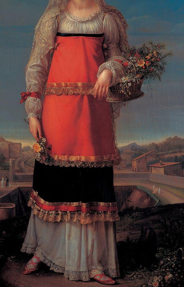 Jean-Baptiste Wicar - Charlotte Bonaparte in peasant dress of Canino 1815 (detail)