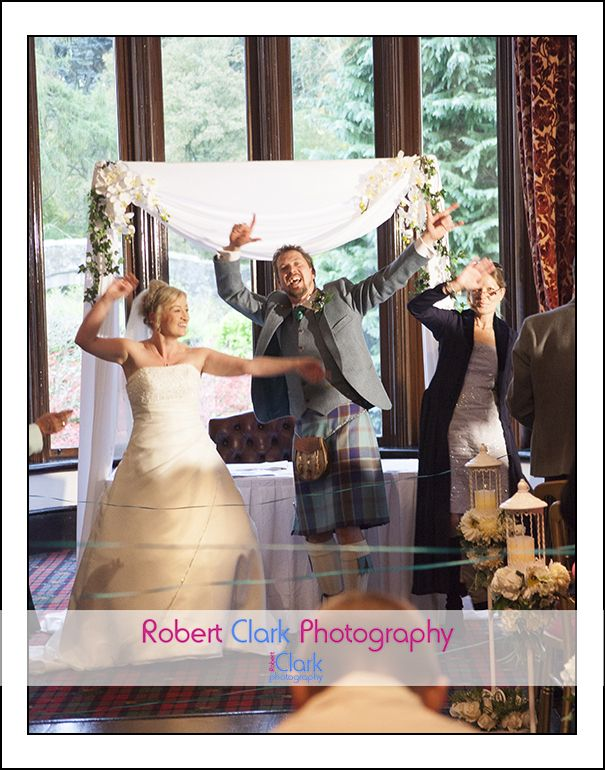 singing and dancing during the vows