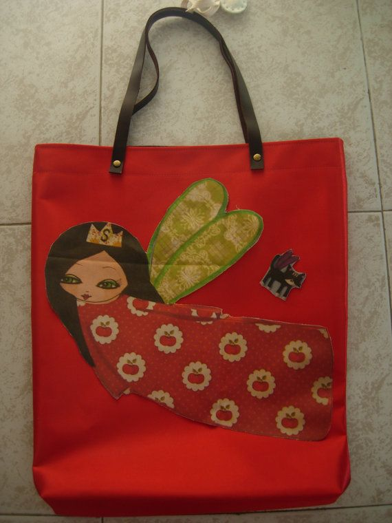 The Supergirl Summer colorfulred  waterproof art bag by eltsamp, $78.00
