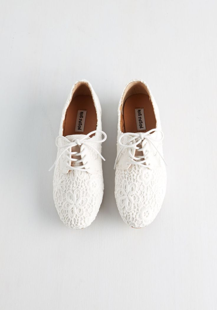 Worth Your Smile Flat in White | Mod Retro Vintage Flats | ModCloth.com