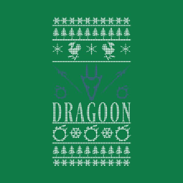 Check out this awesome 'Final+Fantasy+XIV+Dragoon+Ugly+Christmas+Sweater+T-Shirt' design on @TeePublic!