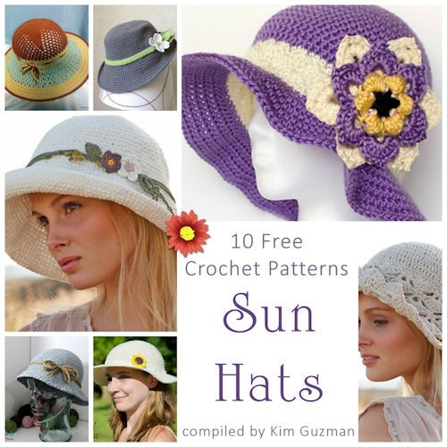 Monday Link Blast: 10 Free Crochet Patterns for Sun Hats