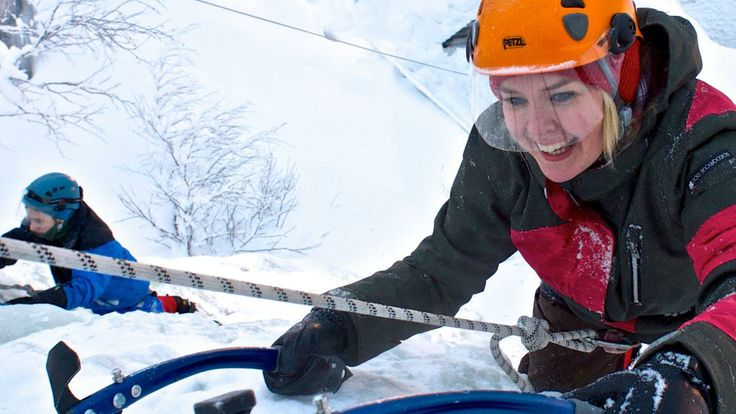 Ice climbing with Bliss Adventure in Pyhä, Lapland, Finland