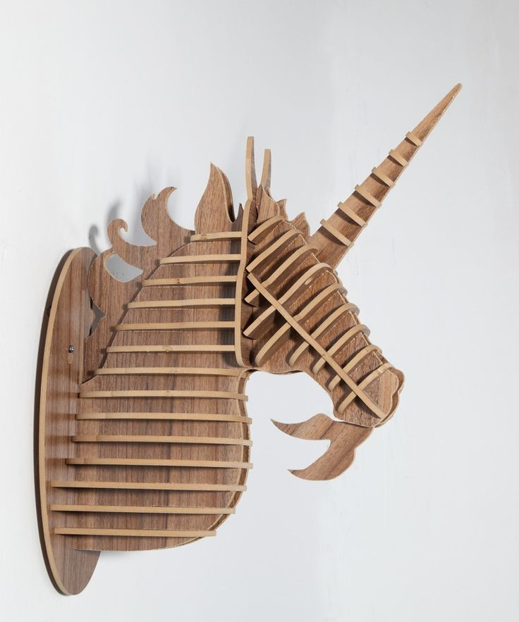 Unicorn wall mount, wall decor animal head, DIY wooden puzzle on sale! contact rudy1919@gmail.com for more information~