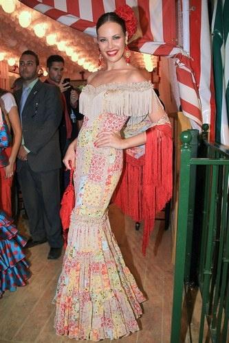 Jessica Bueno en la Feria de Abril