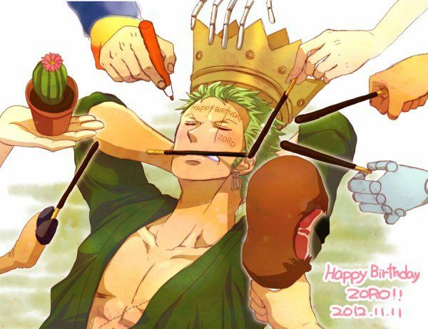 Happy birthday zoro one piece pinterest reste - Luffy x nami 2 ans plus tard ...