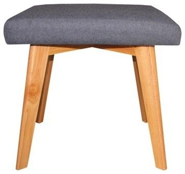 Fabric stool for extra seating.