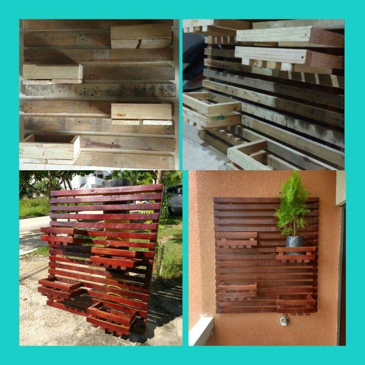 Proyecto jardinera Palets estibas reciclado DIY