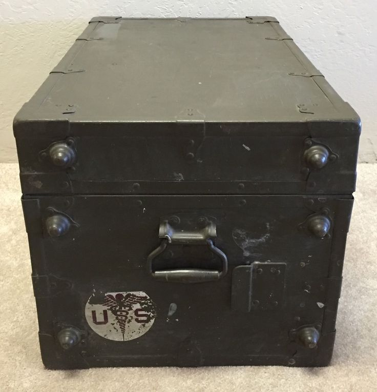 Foot Locker Storage Chest Custom 7 Best Wwii Small Army Medical Trunks Images On Pinterest  Cubbies Decorating Design