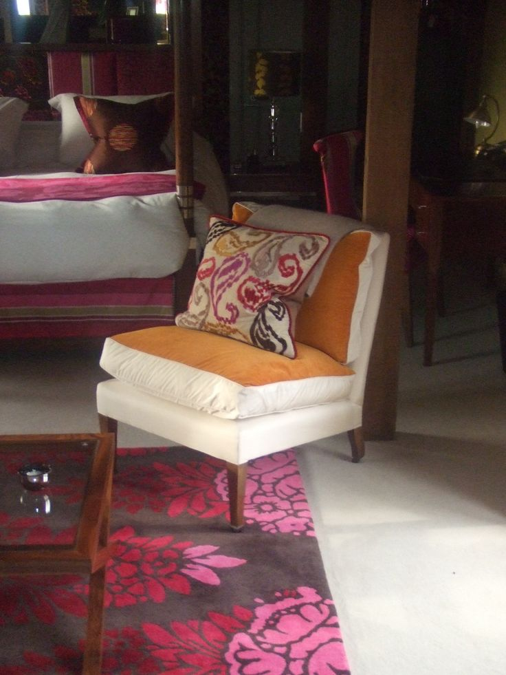 Small chair for bedroom reupholstered by Zinc