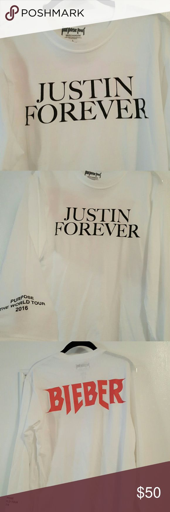 556 best justin bieber things images on pinterest justin bieber justin bieber purpose tour long sleeve tee white justin bieber purpose tour long sleeve tee with